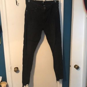 LOFT black seamed modern skinny jeans